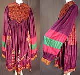 Vintage Afghan Uzbek Suzani Tribal Ethnic Embroidered Boho Bedouin Kuchi Dress