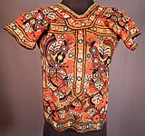 Vintage Indian Gujarat Kutch Work Embroidery Mirrorwork Choli Boho Blouse Top