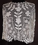 Vintage Edwardian Antique White Floral Meshwork Irish Crochet Lace Blouse Top