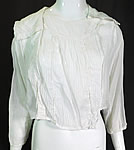 Vintage Edwardian White Cotton Batiste Striped Sailor Collar Middy Blouse Shirt