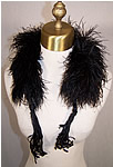 Victorian Black Ostrich Feather Neck Boa
