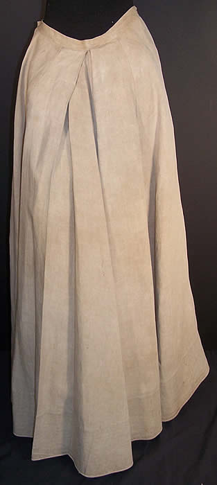 Edwardian Ecru Linen Ladies Walking Suit Skirt  Back View.