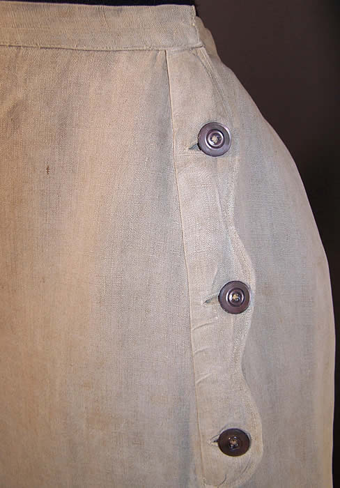 Edwardian Ecru Linen Ladies Walking Suit Skirt