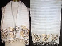 Ottoman Turkish Embroidered Linen Sash Towel.