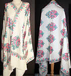 Embroidered Paisley Pashmina Shawl.