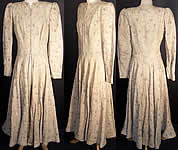 Art Deco Silver Lamé Princess Dress Coat