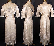 Titanic Edwardian Silk Lace Beaded Wedding Gown Dress
