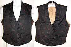 Mens Victorian Mourning Wheat Double Breasted Vest
