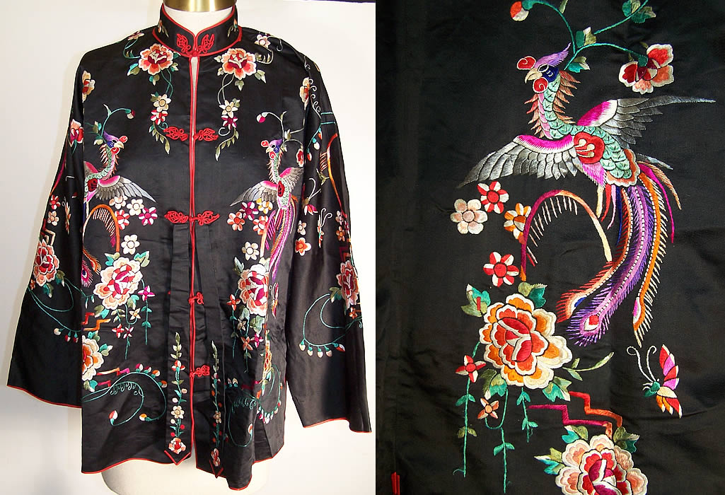 Lili Butler Silk Embroidered Jacket Evening Top Turquoise ...