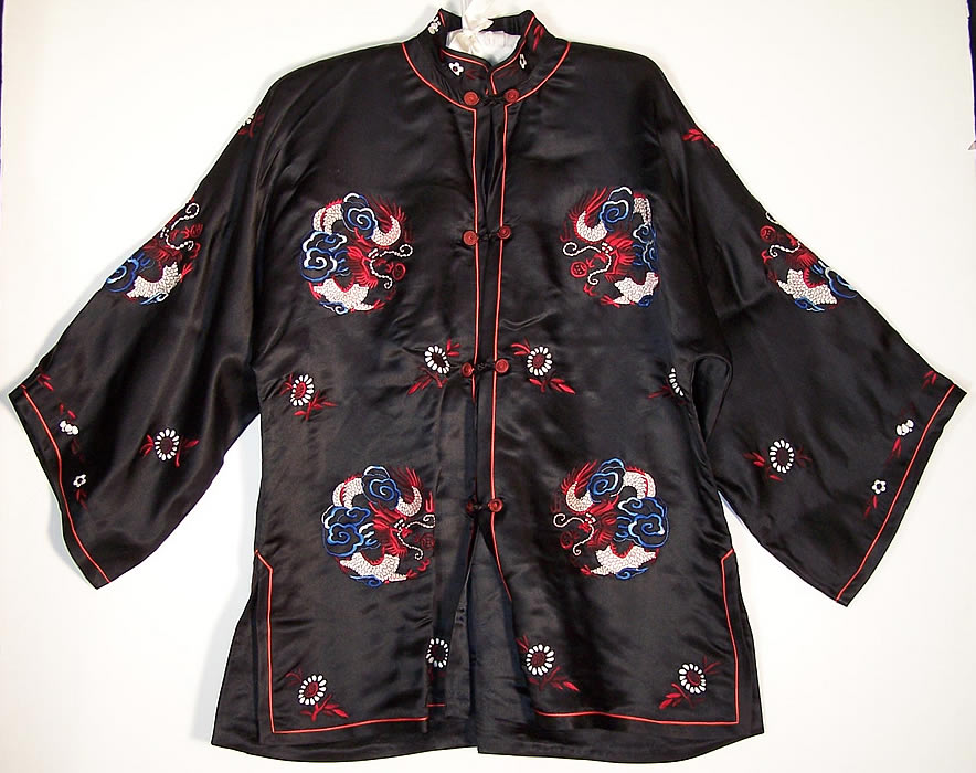 Dynasty Chinese Silk Embroidered Dragon Jacket