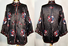 Vintage Dynasty Chinese Silk Embroidered Dragon Jacket