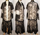 Edwardian Black Chantilly Lace Robe Dressing Gown