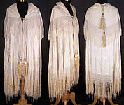 Antique Silk Embroidered Tassel Wedding Shawl Cape Cloak