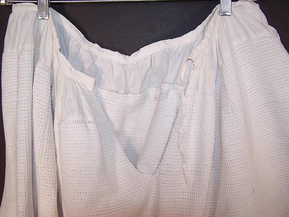 Victorian Hand Knit Crochet White Wool Winter Petticoat Skirt