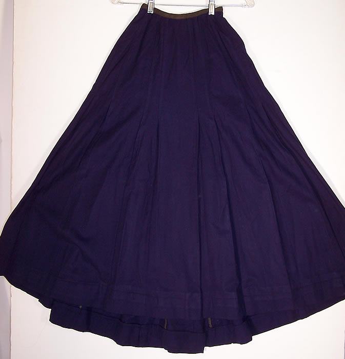 Victorian Violet Purple Wool Black Soutache Walking Suit  Skirt