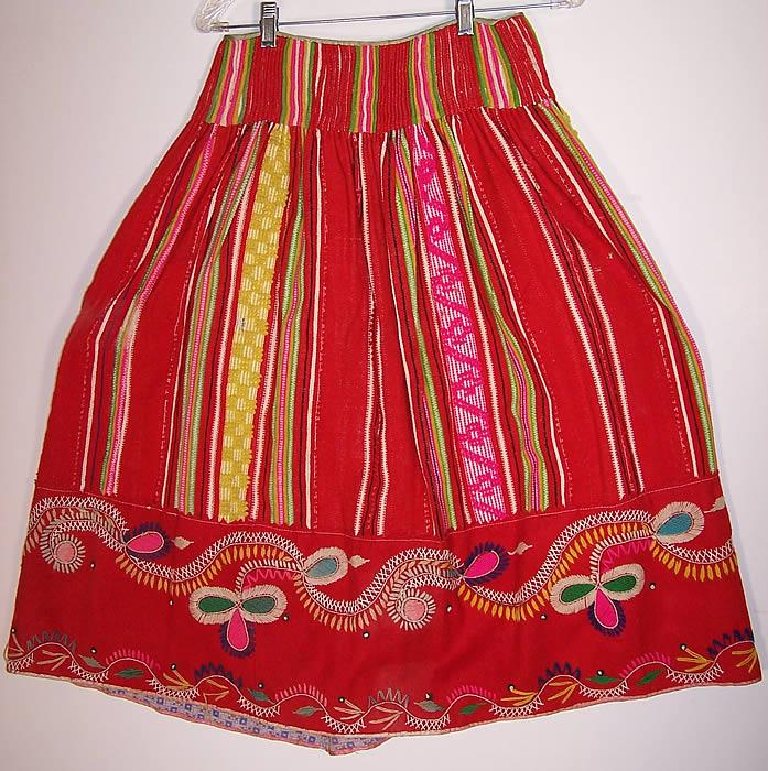 Vintage Portuguese Folk Costume Embroidered Wool Vest