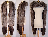 Vintage Liebs Furs Luxurious Silver Fox White Tip Tail Long Stole Shawl Wrap