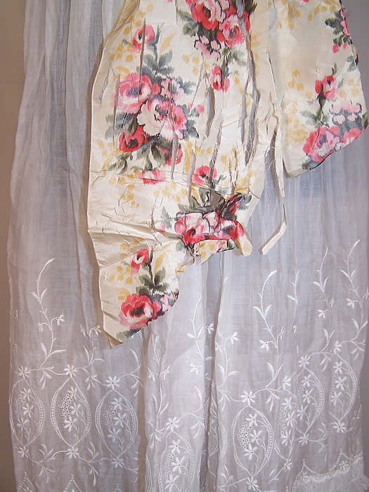 Edwardian Embroidered White Batiste Lawn Lace Wedding Gown