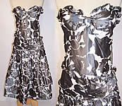 Vintage Nina Ricci Haute Boutique Paris Silk Taffeta Strapless Cocktail Dress NWT