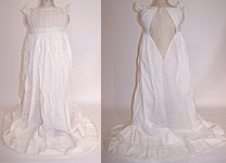 Victorian Antique Ayrshire Whitework Christening Gown Infant Dress
