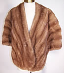 Vintage Edwards & Kroll Beverly Hills Pastel Mink Fur Stole Shawl Wrap Cape
