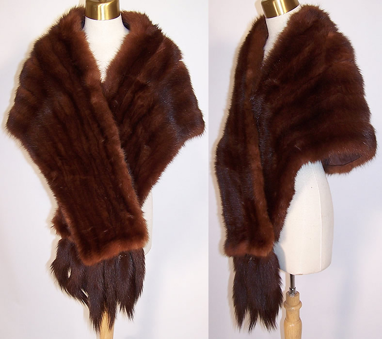 Vintage fur nakamura ginza tokyo mink tails stole shawl wrap cape - Stoel fur ...