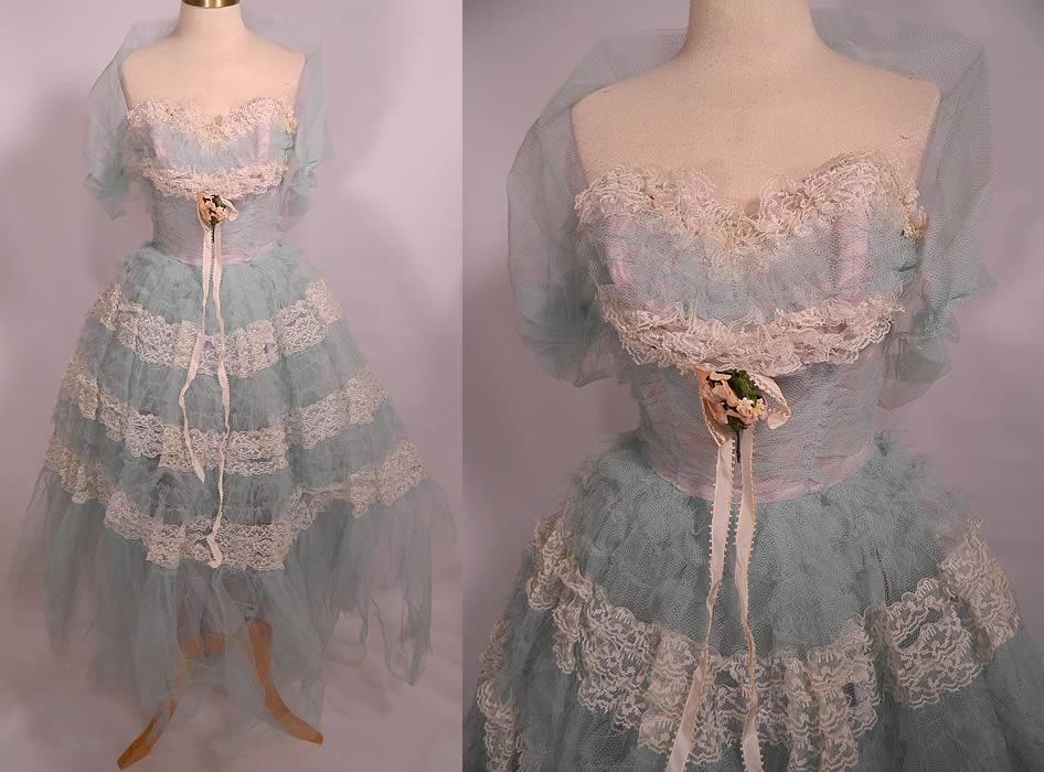 Vintage Ruffle Dress