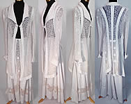 Edwardian Titanic White Linen Net Soutache Walking Suit Dress Jacket & Skirt