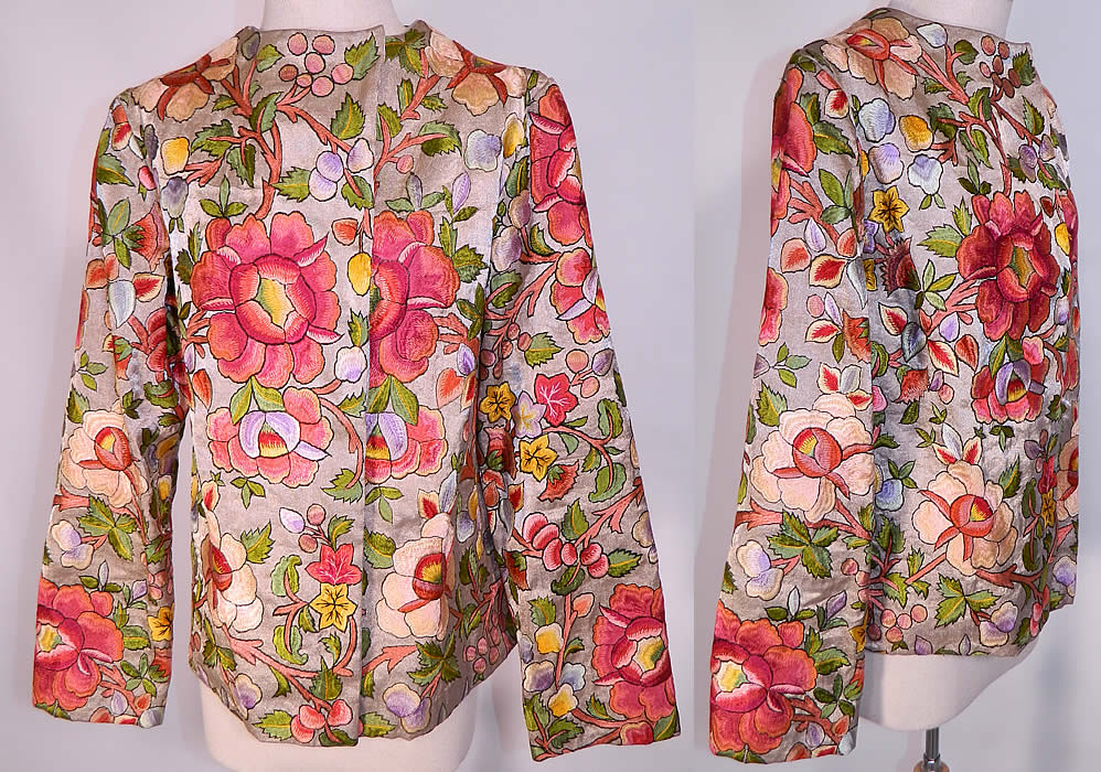 vintage embroidered floral jacket nbNAoTNepy