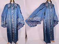 Victorian Vintage Henderson Ames Co Regalia Blue Silk Ceremonial Robe Gown