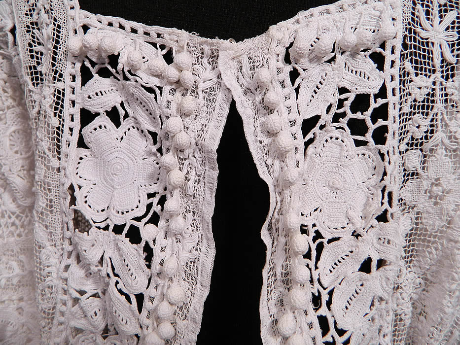 Edwardian Antique White Irish Crochet Tape Lace Bodice Blouse  It Is