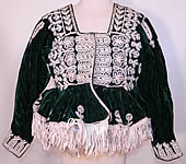 Antique Spanish Conquistador Bolivian Milkmaids Folk Costume Velvet Beaded Jacket