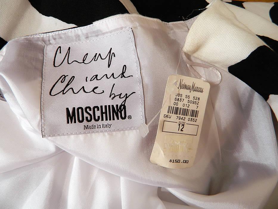 The Zebra Insurance >> Vintage Cheap & Chic Moschino Black & White Zebra Print Suit Jacket Skirt