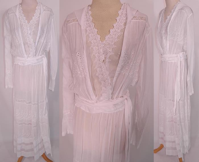 Edwardian Eyelet Embroidered White Cotton Batiste Lace