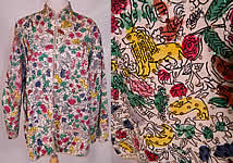 Vintage Teresa Original Taxco Mexican Figural Animals Hand Painted Sequin Jacket