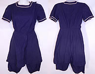 Vintage Water Sprite Edwardian Era Blue Bathing Suit Swimsuit Dress & Bloomers