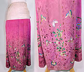 Antique Chinese Fuchsia Purple Silk Embroidered Butterfly Han Wedding Skirt