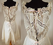 Edwardian White Cotton Batiste Lace Teddy Camiknickers Camisole Bloomers