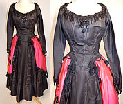 Vintage Black Pink Silk Sequin Beaded Dress Carmen Costume Tennessee Ernie Ford Show