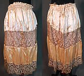 Vintage Pink Silk Gold Lamé Lame Lace Floral Flapper Skirt Dress Fabric