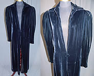 Vintage Emery Bird Thayer Co Black Velvet Long Evening Jacket Opera Coat