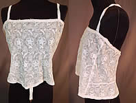 Vintage Edwardian Antique Tambour Embroidery Net Lace Camisole Bra Bandeau Top
