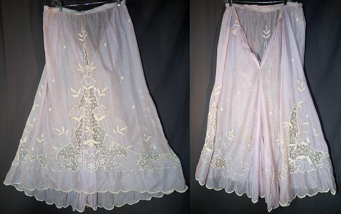 edwardian lavender batiste white embroidered lace trim