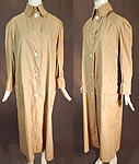 Edwardian Women's Vintage Linen Travel Motoring Driving Duster Coat Jacket