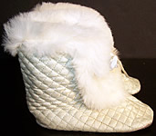 Edwardian Baby Blue Quilted Fur Carriage Boots.