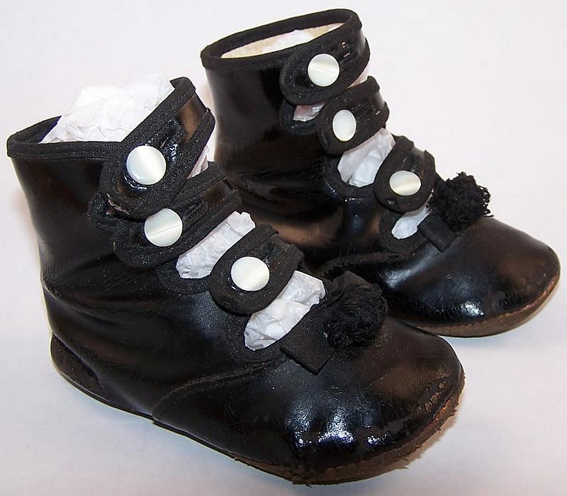 Antique Childs Patent Leather  Strap Shoes