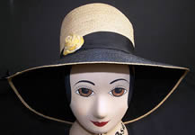 Natural Straw Wide Brim Cloche Hat