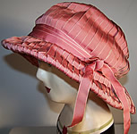 Maison Lewis Paris Pink Flapper Cloche Hat
