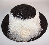 Titanic Black Straw Wide Brim Boater Hat
