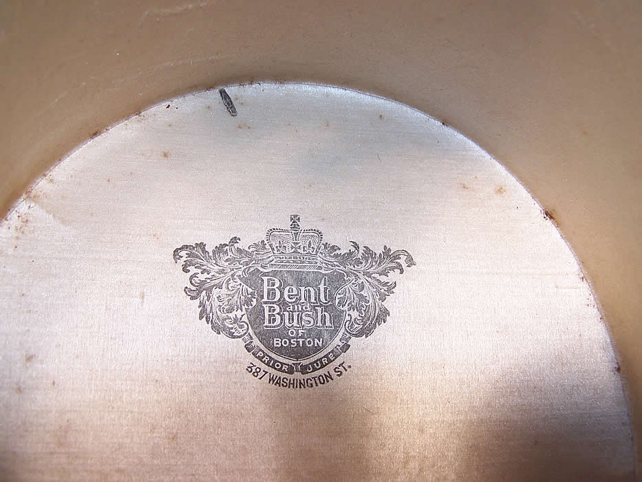 Victorian Bent & Bush Boston Black Beaver Gentlemen's Opera Top Hat close up.